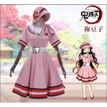 Kimetsu no Yaiba Demon Slayer Nezuku Kamado Pink Daily Cosplay Costume