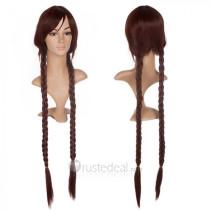 Danganronpa Trigger Happy Havoc Touko Fukawa Brown Braids Cosplay Wig