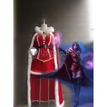 League of Legends Mistletoe LeBlanc Christmas Red Cosplay Costume