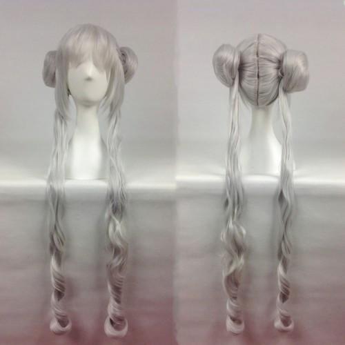 Sailor Moon Tsukino Usagi Long Silver Cosplay Wig