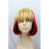 Pokemon Flareon Red and Blonde Cosplay Wig