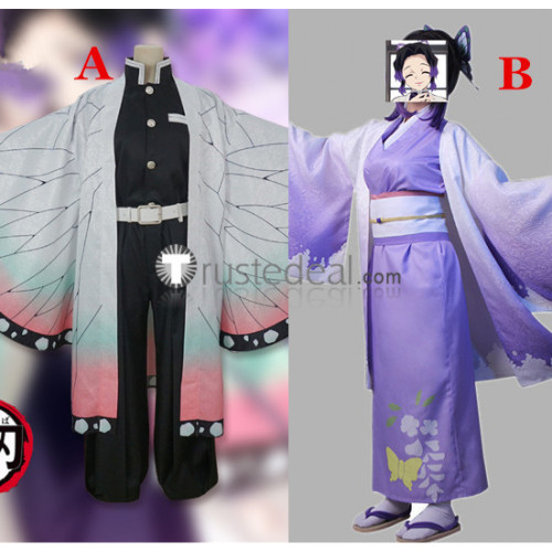 Kimetsu no Yaiba Demon Slayer Shinobu Kochou Kimono Cosplay Costumes