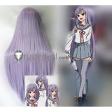 Seraph of the End Owari no Serafu Mahiru Hiragi Purple Cosplay Wig 100cm