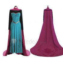 Frozen Disney Princess Elsa Coronation Cosplay Costume 2