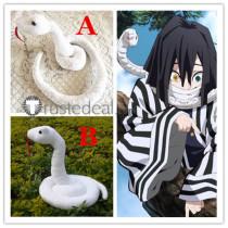 Kimetsu no Yaiba Demon Slayer Obanai Iguro White Snake Cosplay Props Accessories