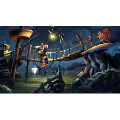 Monkey Island Largo LaGrande Pirate Brown Cosplay Boots Shoes