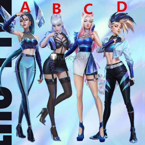 League of Legends LOL K/DA EP ALL OUT Akali KaiSa Ahri Evelynn Seraphine Cosplay Costumes
