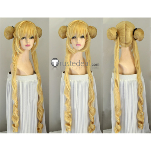 Sailor Moon Tsukino Usagi Long Blonde Cosplay Wig