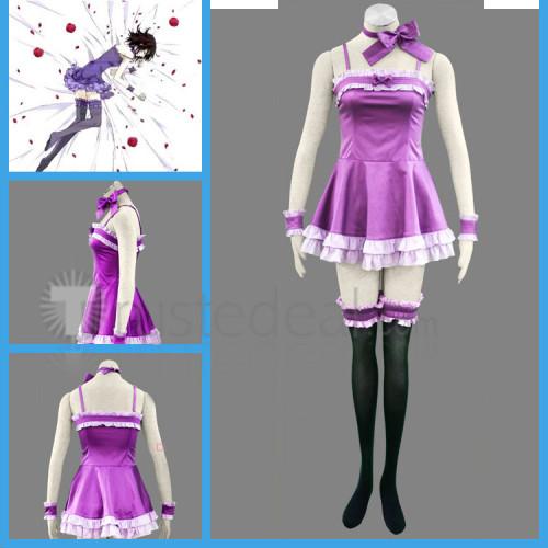 Vampire Knight Kuran Yuuki Purple Dress Cosplay Costume