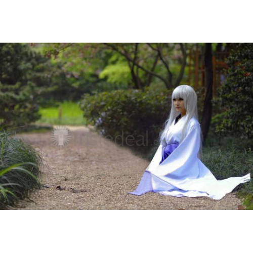 Vampire Knight Hiou Shizuka White Purple Kimono Cosplay Costume