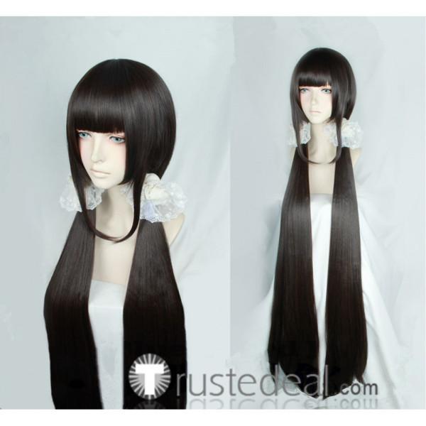 Danganronpa V3 Killing Harmony Maki Harukawa Dark Brown Cosplay Wigs