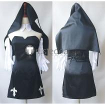 Super Sonico Sonico Nun Black Blue Red White Cosplay Costumes