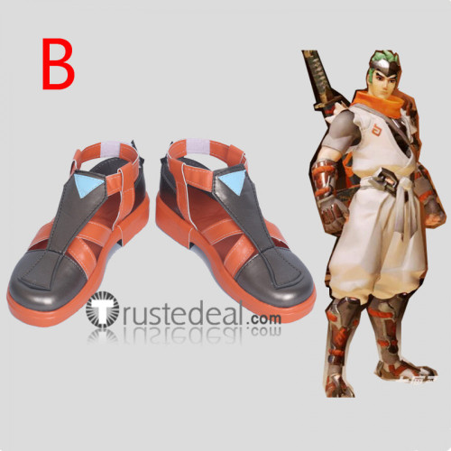 Overwatch Genji Sparrow Skin Cosplay Shoes Boots