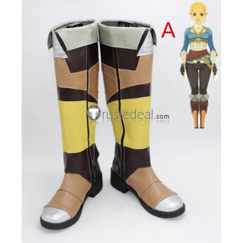 The Legend of Zelda Breath of the Wild Princess Zelda Cosplay Boots Shoes