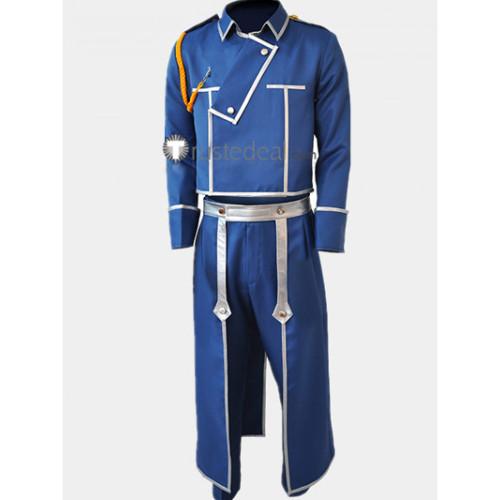 Fullmetal Alchemist Maes Hughes Blue Uniform Cosplay Costume
