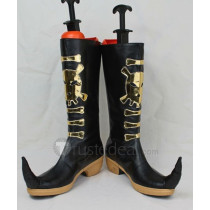 Ao no Exorcist Amaimon Black Cosplay Boots Shoes 1