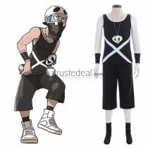 Pokemon Sun and Moon Team Skull Grunt Male Cosplay Costume