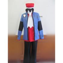 Pokemon Lucas Kouki Blue Cosplay Costume