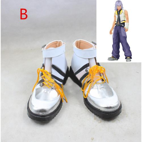 Kingdom Hearts Riku White Cosplay Shoes Boots