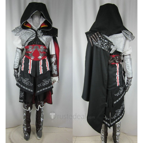 Assassin's Creed Ezio Auditore da Firenze Black Cosplay Costume