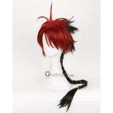 Seraph of the End Owari no Serafu Crowley Eusford Red Black Braid Cosplay Wig