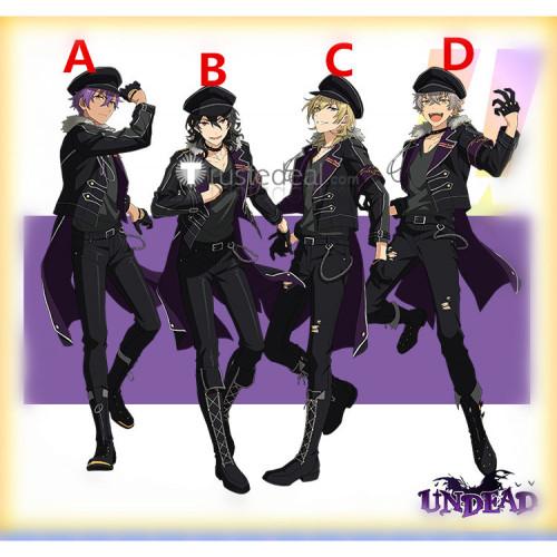 Ensemble Stars ES Idol Undead Oogami Koga Rei Sakuma Kaoru Hakaze Adonis Otogari Black Jacket Cosplay Costumes