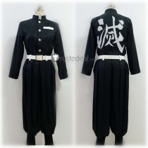 Kimetsu no Yaiba Demon Hunter Team Black Brown Uniform Cosplay Costume