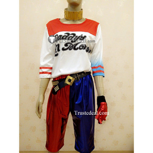 Suicide Squad Harley Quinn Genderbend Male Cosplay Costume