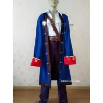 Monkey Island Guybrush Ulysses Threepwood Pirate Blue Cosplay Costume