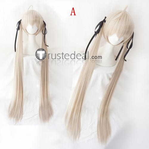 Yosuga no Sora Kasugano Sora Gray Blonde Ponytails Cosplay Wigs