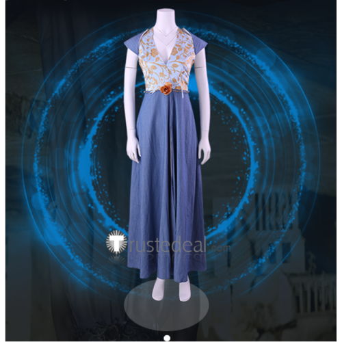 Game of Thrones Queen Margaery Tyrell Formal Dress Cosplay Costume