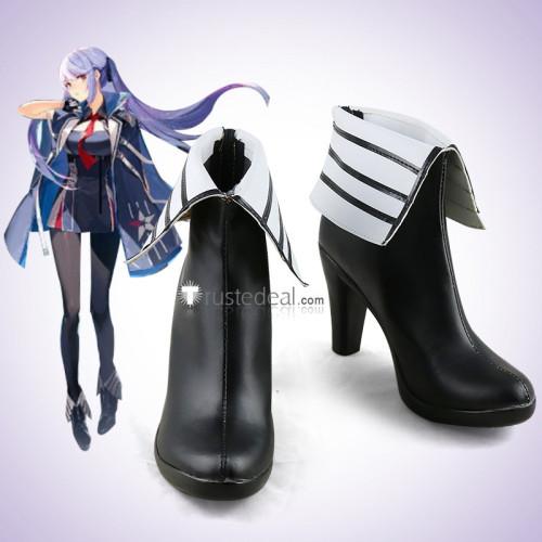 Azur Lane Essex Black Cosplay Boots Shoes