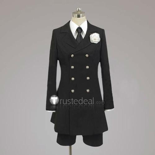 Black Butler 2 Kuroshitsuji Ciel Phantomhive Funeral Black Uniform Cosplay Costume