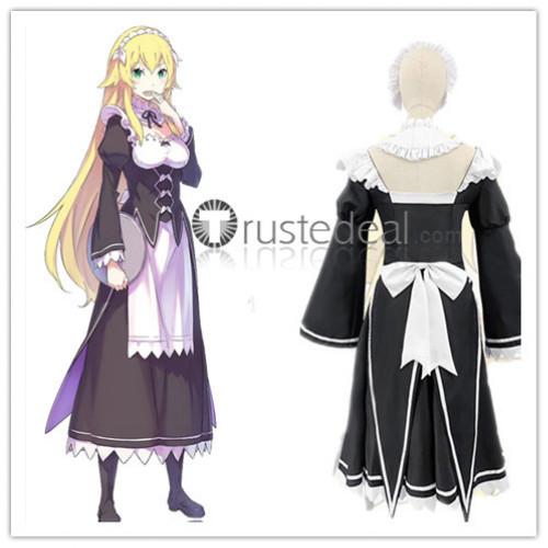 Re Zero Kara Hajimeru Isekai Seikatsu Frederica Baumann Maid White Black Cosplay Costume