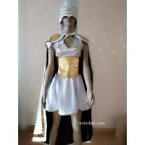 League of Legends LOL Freljord Ashe White Cosplay Costume
