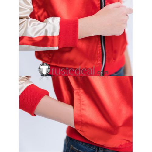 Wreck It Ralph 2 Princess Mulan Red Baseball Jacket Dragon Prints Cosplay Costume
