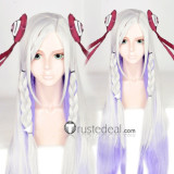Sword Art Online The Movie Ordinal Scale Singer Yuna Long Silver White Purple Cosplay Wig 100cm