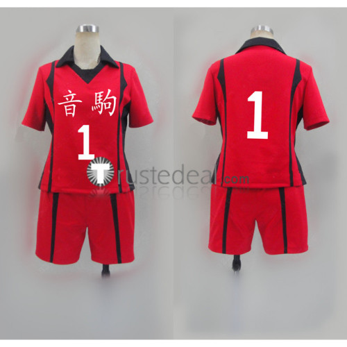 Haikyuu Nekoma High School Volleyball Club Tetsuro Kuroo and Kenma Kozume Red Uniform Cosplay Costume