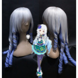 Aikatsu Stars! Lilie Shirogane Mizuki Kanzaki Silver Blue Purple Cosplay Wigs