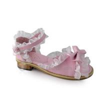 Open Toe Pink Trim Beautiful Girls Sandals