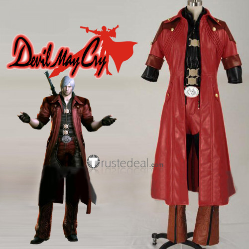 Devil May Cry 4 Dante Red Cosplay Costume