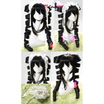 Danganronpa Trigger Happy Havoc Celestia Ludenberg Black Cosplay Wig