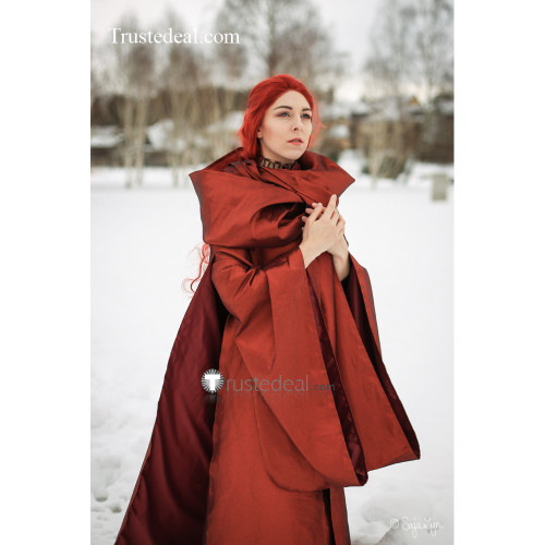 Game of Thrones Priestess Melisandre of Asshai Red Gown Cosplay Costume