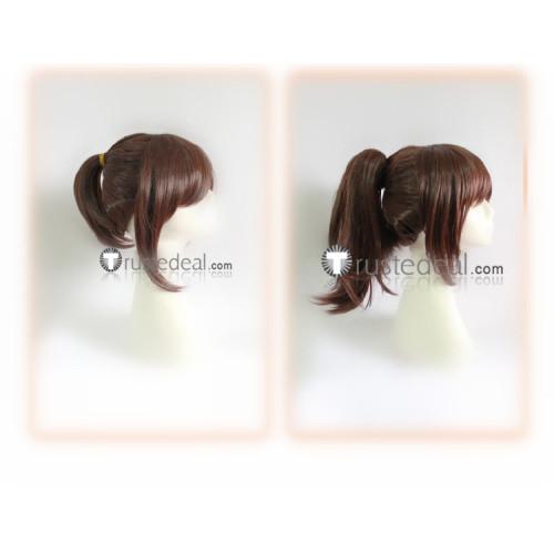 Spirited Away Chihiro Ogino Haku Brown Ponytails Green Cosplay Wigs