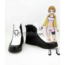 Gundam Build Fighters Try Fumina Hoshino Black White Cosplay Shoes Boots