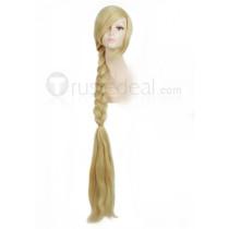 Tangled Rapunzel Disney Princess Blonde Cosplay Wig 120cm