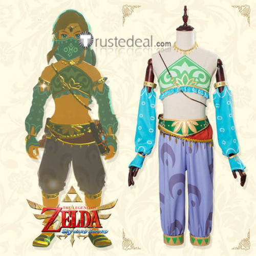 The Legend of Zelda Breath of the Wild Game Link Gerudo Female Cosplay Costume