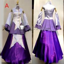 Gundam Seed Princess Lacus Clyne White Purple Cosplay Costume