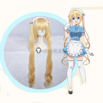 Blend S Kaho Hinata Blonde Ponytails Curly Cosplay Wig2
