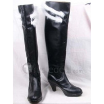 K Project Awashima Seri Black Cosplay Boots Shoes